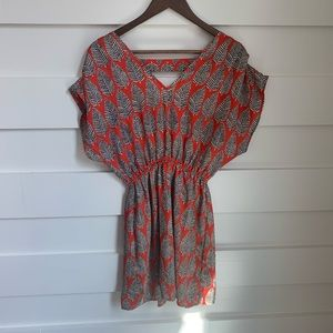 (LIKE NEW) Francescas - Red Leaf Detailed Dress